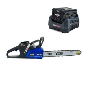 """82V VICTA 18"""" Cordless Brushless Electric Chainsaw Chain Saw + 2Ah Battery Kit"""