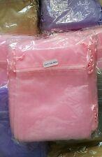50 Organza bags Pink 12 x 16cm Wedding favors,  jewellery, gift bags FREEPOST UK