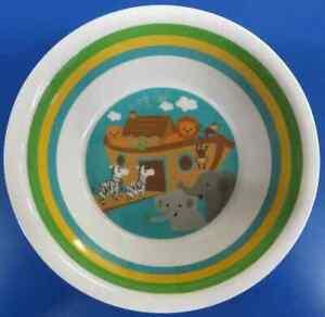 Noah's Ark Animal Baby Shower Kids 1st Birthday Party Gift Melamine Bowl