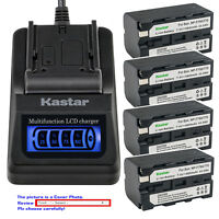 Kastar Battery LCD Quick Charger for Atomos NP-F750 NP-F770 Atomos Shogun Flame