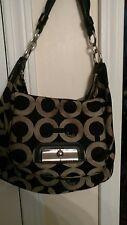 COACH Handbag Kristin Signature Spectator Shoulder Bag Purse L1082-16784 black