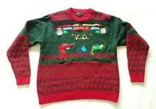 Blizzard Bay Men's Ugly Christmas Sweater Santa Fighter Video Games Size Large