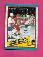 1989-90 OPC # 329 CANADIENS / FLAMES STANLEY CUP  NRMT-MT CARD (INV# C2937)