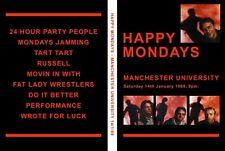 More details for happy mondays vintage live dvd manchester university 1989 factory records