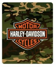 Harley Davidson Camo fleece blanket throw