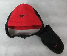 Nike Toddler Beanie Hat ans Mitten Set Red Black Boys 12/24M New 12m to 24m