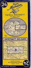 Carte Michelin Suisse 24 Andermatt-Bolzano 1955