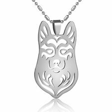Stainless Steel Siberian Husky Alaskan Malamute Mal Mally Dog Pendant Necklace