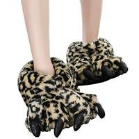 Claws Cotton Slippers Winter Plush All inclusive Bear Paw Slippers Warm Shoes