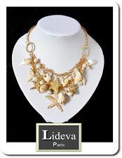 Halskette Kette Collier Kollier Blogger Choker Muscheln Seesternen PerlenParis