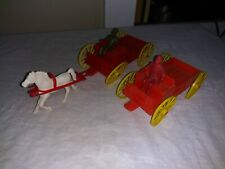 Vintage MPC COWBOYS and WAGONS Drivers with Horse