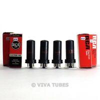 True NOS NIB Matched Quad (4) RCA 6F6 Plate Metal Vacuum Tubes