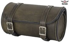 Dark Brown Leather Motorcycle Tool Bag - free shipping