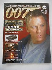 Sammelheft Begleitheft De Agostini James Bond *nur Heft* keine Autos