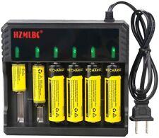 Intelligent 6 Slots for 16340/18650/14500/26650 3.7V Li-ion Smart Charger Usa