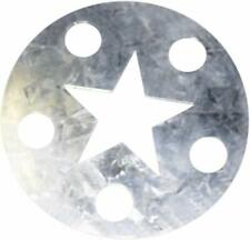 """Star Large Galvanized Metal Candle Capper Topper 3 1/4"""" Diameter"""