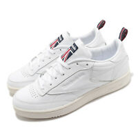 Reebok Club C 85 White Chalk Navy Red Men Classic Casual Shoes Sneakers FW7798