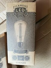 2 X E27 LED Filament Bulb Pear 2W Warm White Energy Saving - Clear Glass