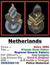 Obsolete Cap Badge • Netherlands • National Pol' • Post 1950 • 200920001•E
