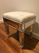 Mirrored Makeup Stool/Chair for make up dressing table - Silver