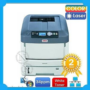 OKI C711WT WHITE Toner Color Laser Banner Printer 36PPM (RRP$6029.69) Ex-Demo