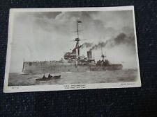 HMS Dreadnought Postcard WWI Battleship - 26446