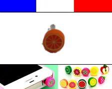 Cache anti-poussière jack universel iphone protection capuchon bouchon ORANGE
