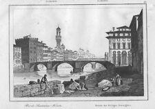 1835 Firenze ponte Santissima Trinità bulino