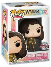 Funko Wonder Woman Ww84 Golden Armor Metallic Pop Figure Special Edition