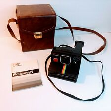 Vtg Polaroid Time Zero One Step Land Camera with Strap, Case, Booklet UNTESTED
