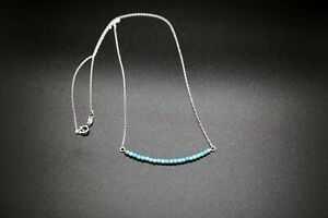 Faceted Turquoise Necklace Sleeping Beauty Turquoise Smile Turquoise Necklace