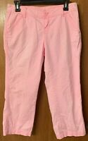 Womens Maurices Pink Casual Light Capri Pant Size 3/4
