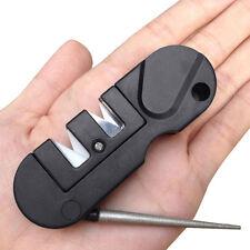 Pocket 3 In1 EDC Knife Sharpener Tungsten Steel Grindstone Taper Outdoor Tools