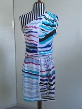 New With Tags Authentic Emilio Pucci One Shouldered Silk Jersey Dress 38 Italian