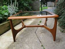 Fab Retro Vintage Mid Century Modern Teak Glass Stonehill Square Coffee Table