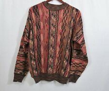 Norm Thompson Men's Vintage Coogi Style 90's Sweater Brown & Red Size M