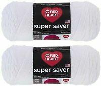 Red Heart Super Saver Yarn 2 Pack - White- 7 oz each