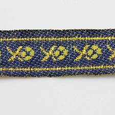 1 METRE 12mm PATTERNED EMBROIDERED RIBBON TRIM COLOURED DESIGN FABRIC REB058