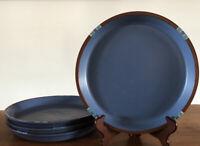 "Vintage Dansk Mesa Sky Blue Dinner Plate, Set Of 4, Stoneware, Heavy, EUC 10.5"""