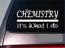 Chemistry sticker decal *E331* textbook student school teacher college lab flask