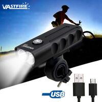 MTB Bici luz delantera 1000LM brillo faro USB recargable Lámpara cabeza ciclismo