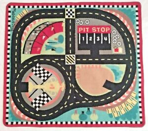 Melissa and Doug Round The Speedway Race Track Rug no cars