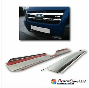 2006-2013 Ford Transit MK7 Chrome Front Grill Trim Cover 2pcs S.STEEL