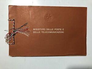 1958 Libro Libretto Folder Francobolli Celebrativi Commemorativi Italy Italie