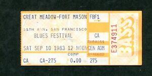 Concert ticket stub - San Francisco Blues Festival 9/10/83