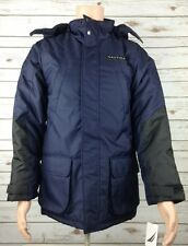 Brand New Nautica Performance Coat Blue Black Winter Parka Men's YOUTH XL 18/20