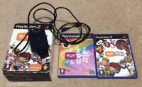 PS2 Playstation 2 Eye Toy Bundle With Camera Eye Toy Play & Eye Toy Groove Games