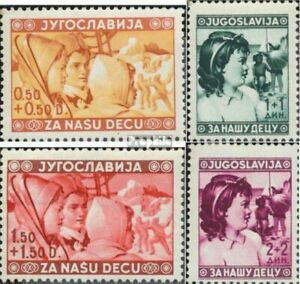 Yugoslavia 418-421 (complete issue) unmounted mint / never hinged 1940 Children'