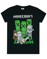 Minecraft Adventure Logo Boy's Black Short Sleeve Gamer T-Shirt