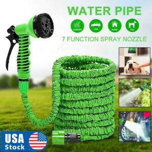 USA Seller 100 Feet Expandable Flexible Garden Water Hose w/ Spray Nozzle
